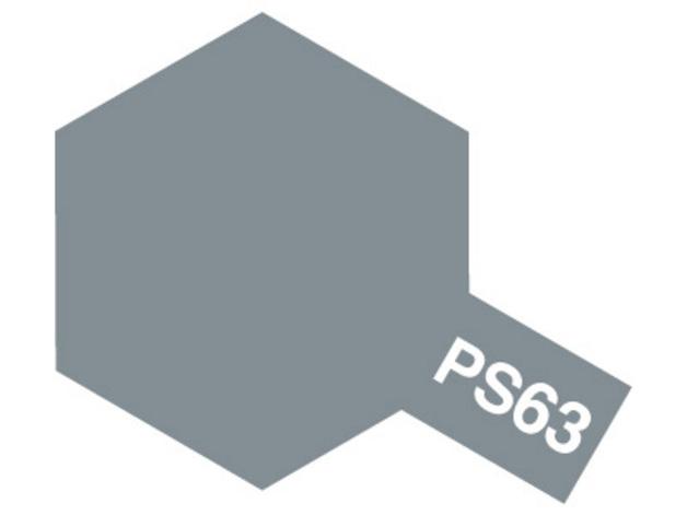 Tamiya PS-63 Polycarb Bright Gun Metal - 100ml Spray Can