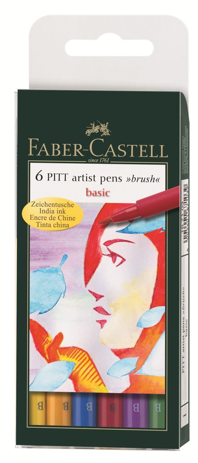 Faber-Castell: Pitt Artist Pens B Basics (Wallet of 6) image