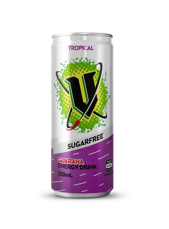 V: Sugar Free - Tropical 250ml (24 Pack)