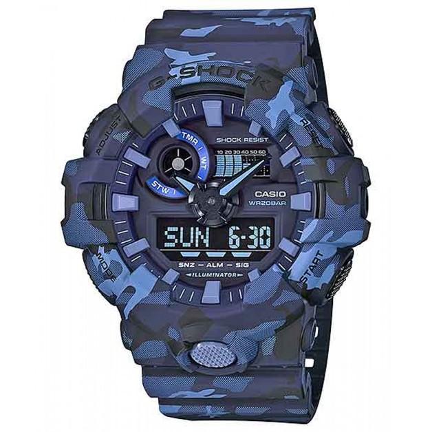 Casio G-shock GA700CM-2A Blue Camouflage Men's Watch