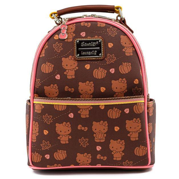 Loungefly: Hello Kitty - Pumpkin Spice Aop Mini Convertible Backpack