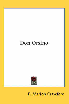 Don Orsino by F.Marion Crawford image