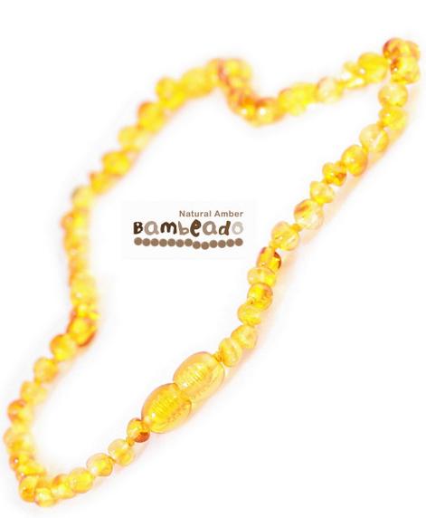 Bambeado Amber Necklace - Baby Bud - Honey