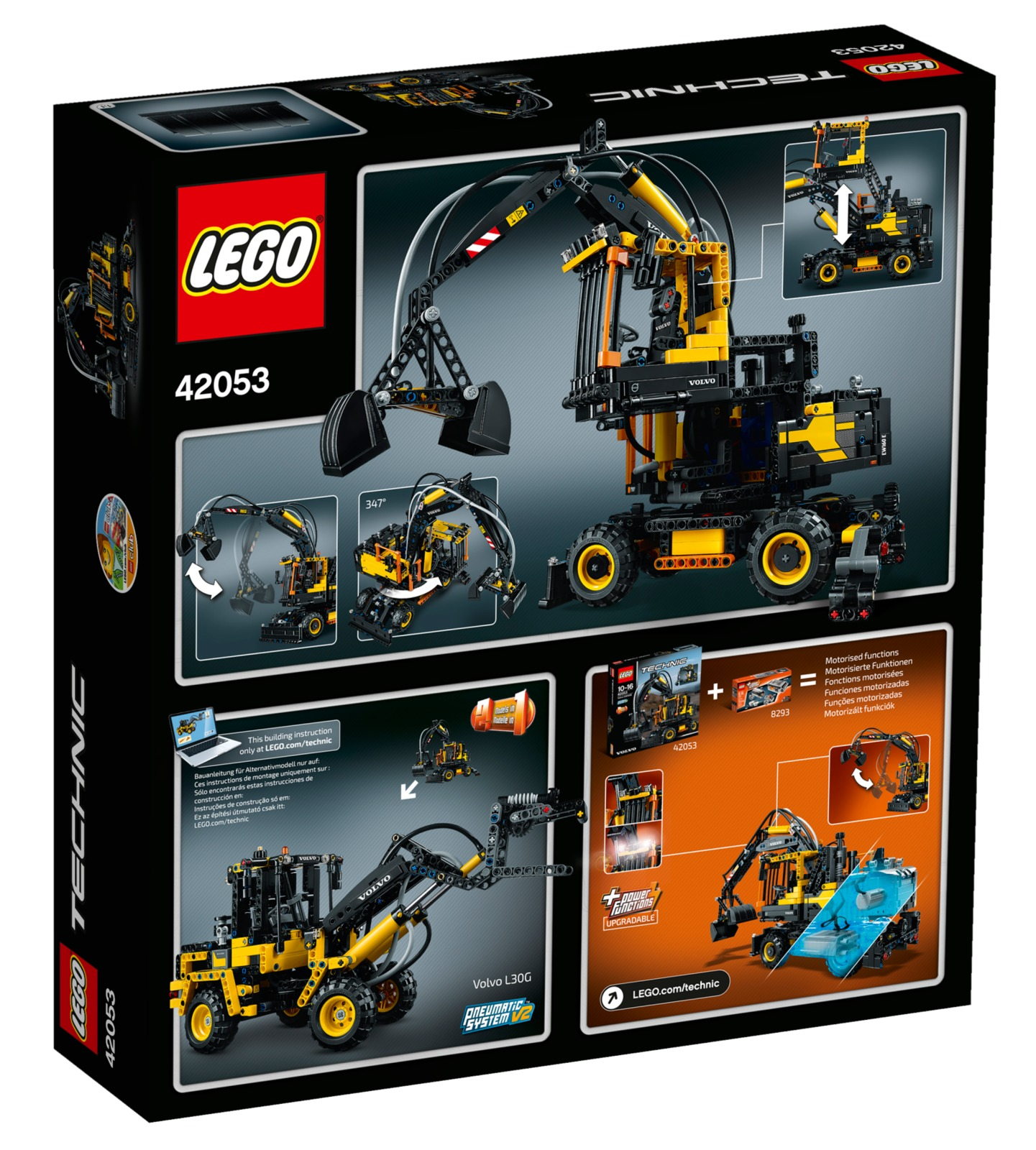 lego technic volvo ew160e 42053 toy at mighty ape nz. Black Bedroom Furniture Sets. Home Design Ideas