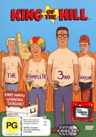 King Of The Hill - Complete Season 3 (4 Disc Set) on DVD image