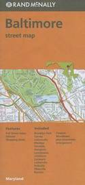 Folded Map Baltimore Streets, MD by Rand McNally