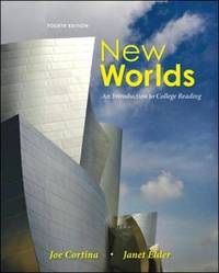 New Worlds: An Introduction to College Reading by Janet Elder image