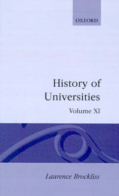 History of Universities: Volume XI: 1992