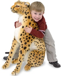 Cheetah Giant Stuffed Animal Plush - Melissa & Doug