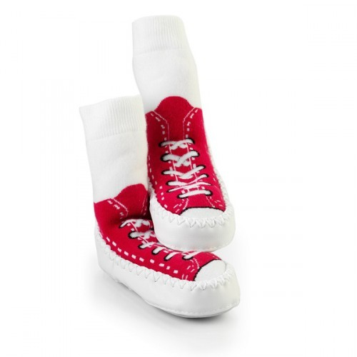 Mocc Ons Sneaker Moccs - Red (12-18 months)