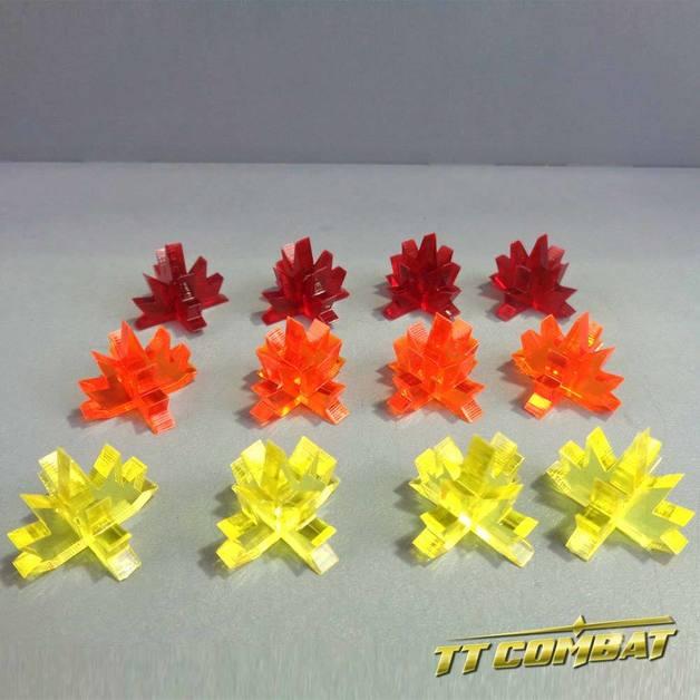 TTCombat: Blast Markers Set - Fire (Red/Orange/Yellow)
