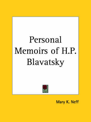 Personal Memoirs of H.P. Blavatsky (1937) by Mary K. Neff image