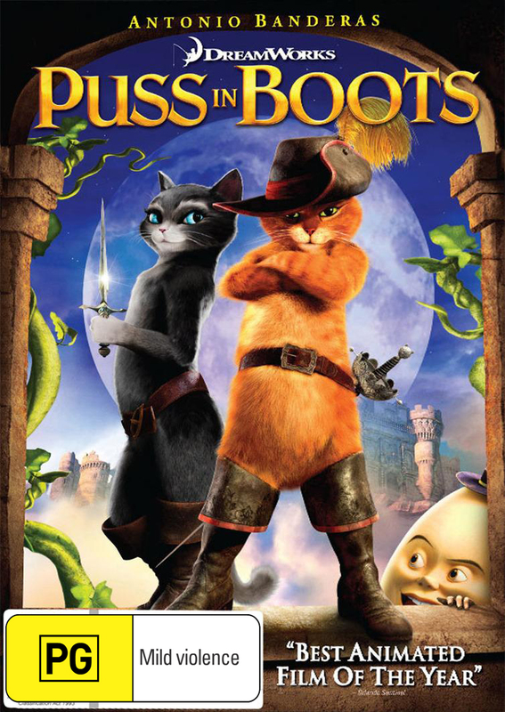 Puss in Boots on DVD