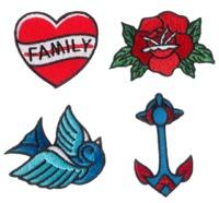 Sourpuss: Tattoo Flash Lil Punker Patch Set