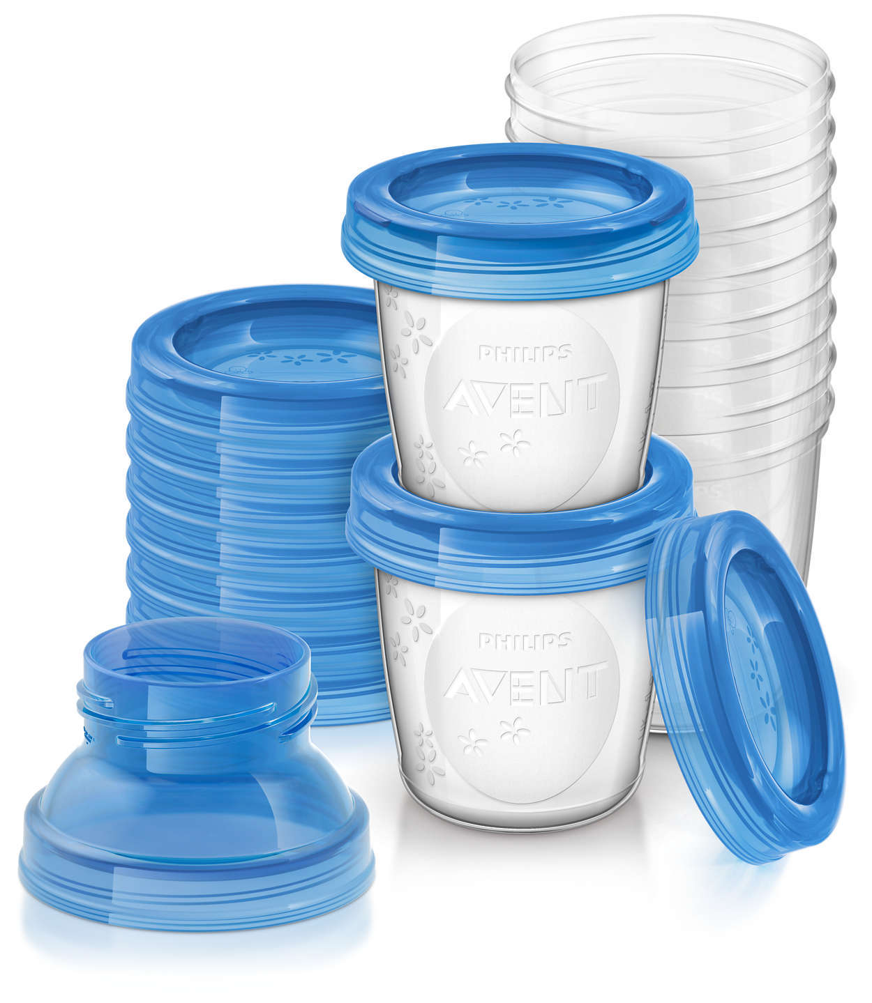 Philips Avent Milk Storage Cups - 180ml (10 Pack) image