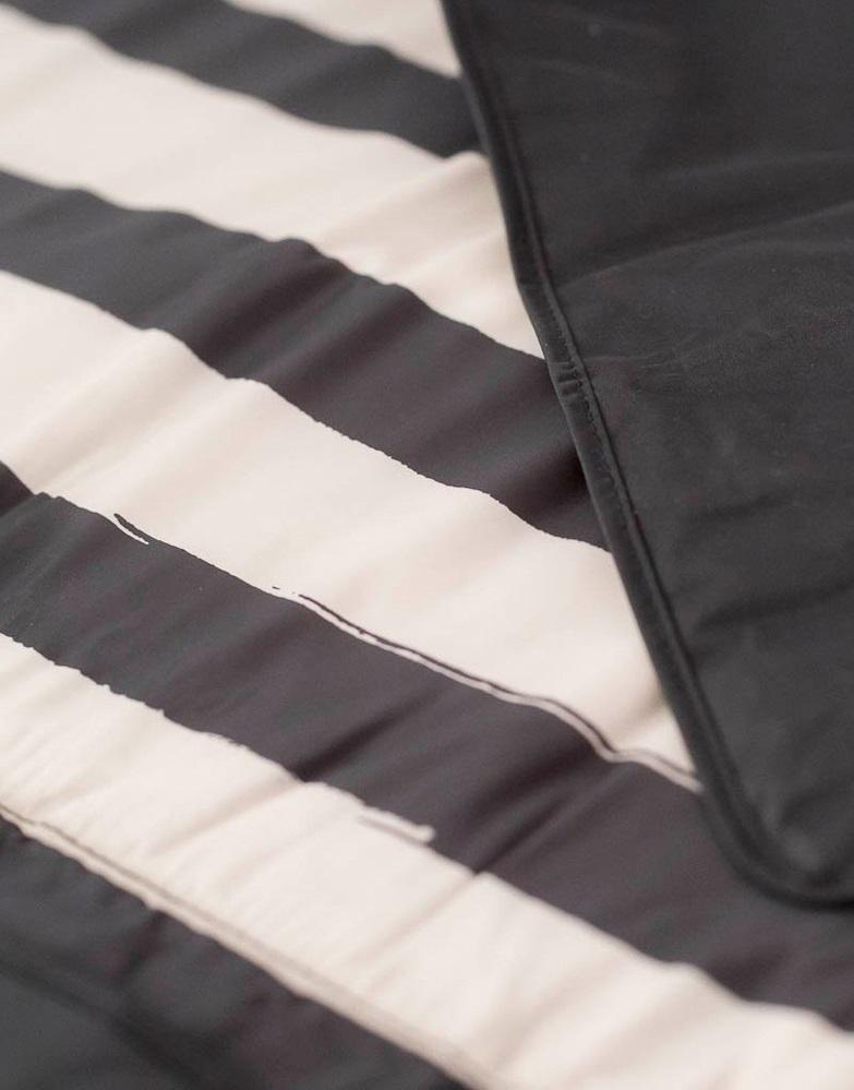 "Little Unicorn: Outdoor Blanket - Black & White Stripe (5"" x 5"") image"