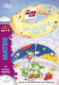Aliens Quick Test: Maths 7-8 by Lynn Huggins Cooper image