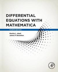 Differential Equations with Mathematica by Martha L Abell