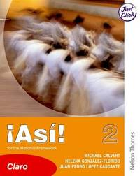 !Asi! 2 Claro Student Book Lower by Mike Calvert image