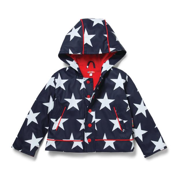 Raincoat Navy Star - Size - 7-8