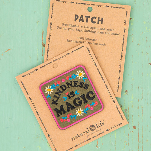 Natural Life: Restickable Patch Fabric - Kindness Magic