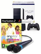 SingStar Pop with microphones + PS2 console pack for PlayStation 2