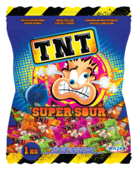 TNT Sour Chews Bulk Bag 1kg image