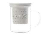 Maxwell & Williams - Lille Glass Mug with Infuser Grey (350ml)
