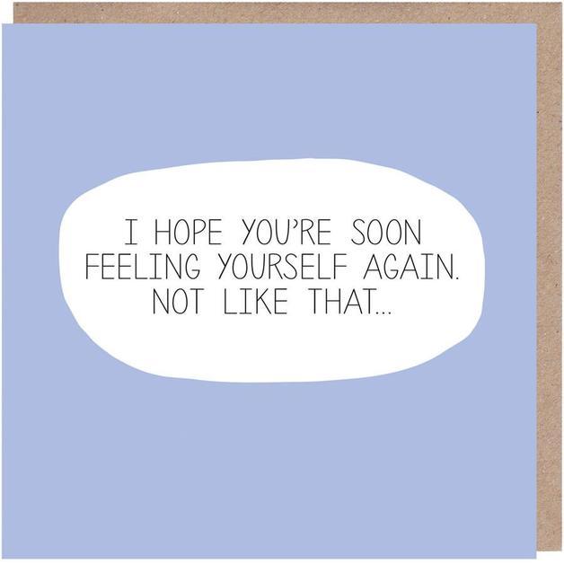 Colourblock: Feeling Yourself Get Well Soon Card