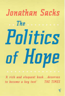 The Politics of Hope by Jonathan Sacks image