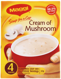 MAGGI Soup for a Cup Cream of Mushroom 62g 4pk
