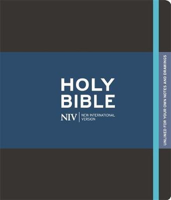 NIV Black Journalling Bible with Unlined Margins by New International Version image