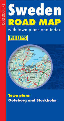 Philip's Road Map Europe Sweden image