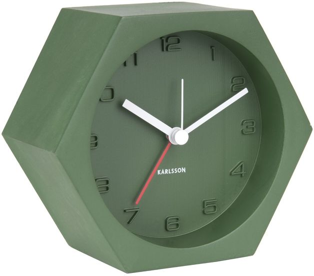 Karlsson Alarm Clock - Hexagon (Green)