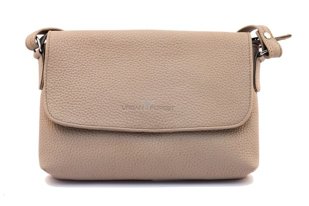 Urban Forest: Rosa Small Leather Handbag - Sand