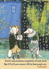 Sacred Bee: Friendship Card - Lews Carroll Bonkers