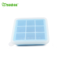 Haakaa: Silicone Baby Food Freezer Tray 9 with Lid - Blue