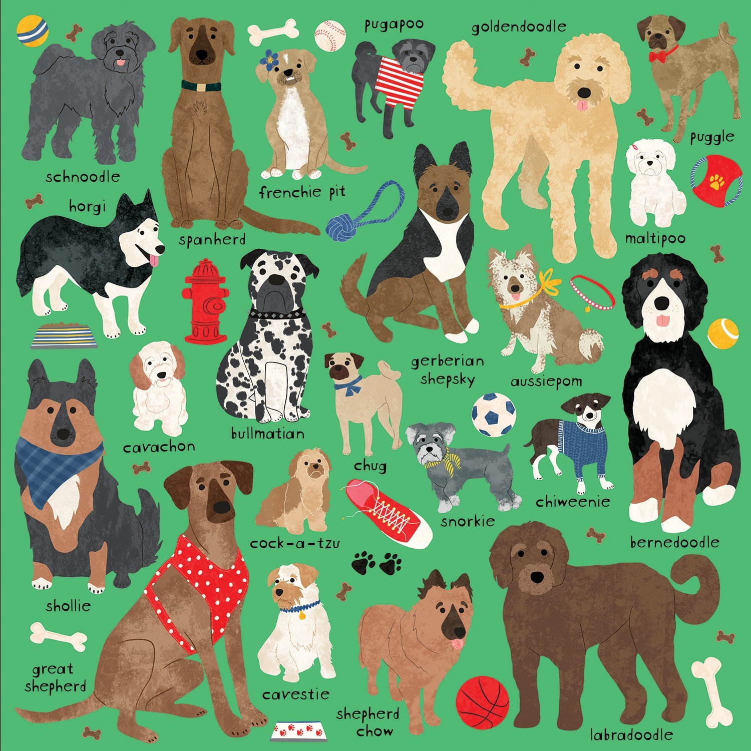 Mudpuppy 500 Piece Family Puzzle Doodle Dogs Other Mixed Breeds