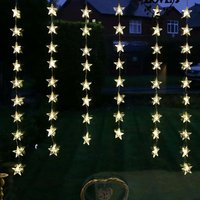 54 LED Star Curtain Lights - Cool White