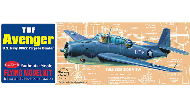 TBF Avenger 1/30 Balsa Model Kit