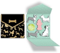 Lady Jayne: Sticky Notepad Folio - Dog Silhouettes