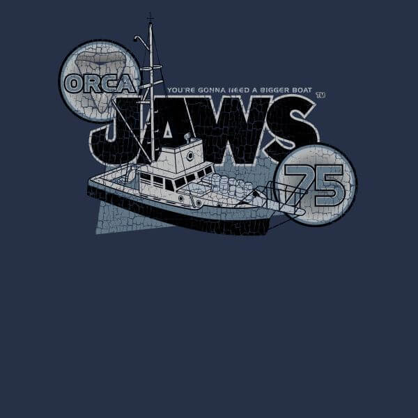Jaws: Orca 75 T-Shirt - Navy/Small image