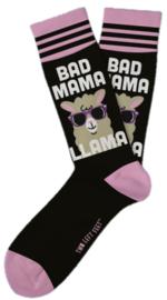 Two Left Feet: Everyday Mom Socks - Bad Mama LLama (Small)