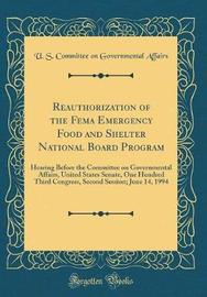 Reauthorization of the Fema Emergency Food and Shelter National Board Program by U S Committee on Governmental Affairs image
