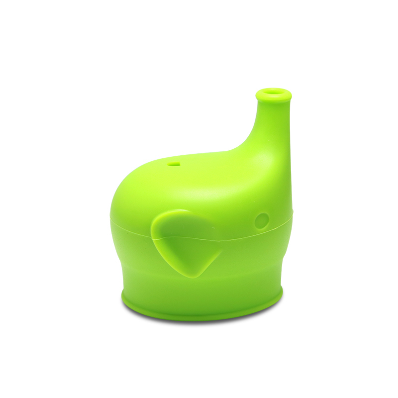 Haakaa: Silicone Elephant Sippy Top - Green image