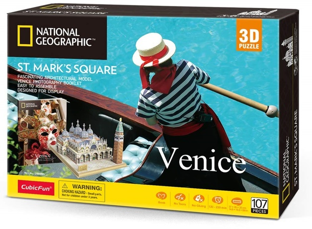 Cubic Fun: National Geographic 3D Model Puzzle - St.Mark's Square (Venice)