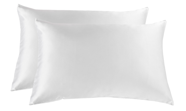 Royal Comfort Mulberry Silk Pillowcase Twin Pack - White
