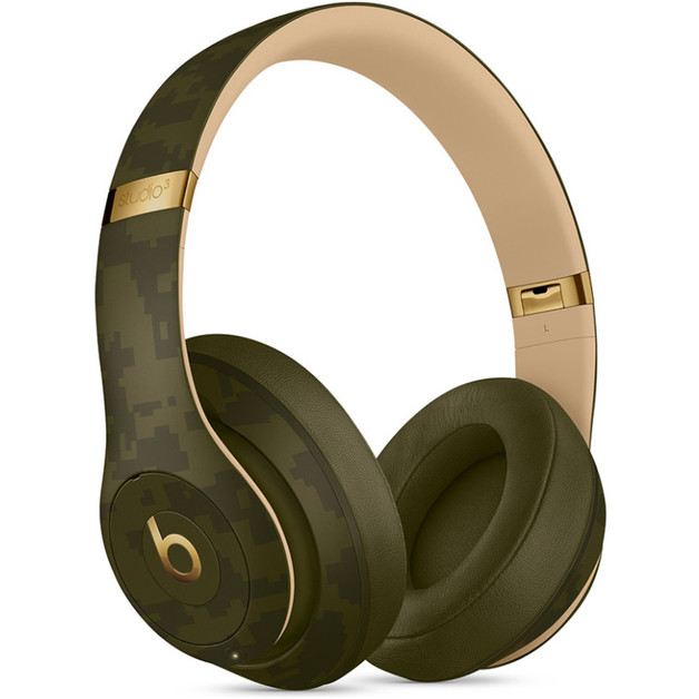Beats Studio3 Wireless Noise Cancelling Over-Ear Headphones - Beats Camo Collection - Forest Green