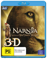 The Chronicles of Narnia: Voyage of the Dawn Treader on Blu-ray, 3D Blu-ray