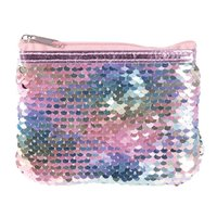 Reversible Sequin Coin Purse - Pearlescent